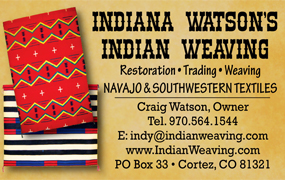 Indiana Watson's Indian Weaving ad