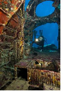 Andrea explores submerged Japanese Zero