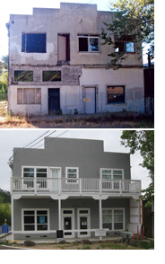 Before and after shots of Jeff's restored gallery
