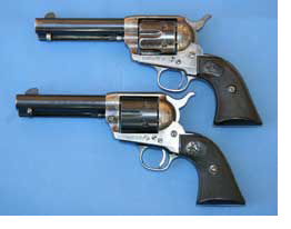 Photo of 2 Colt Peacemaker revolvers