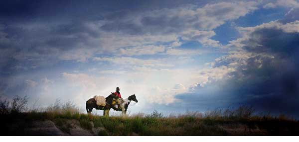 Myron Beck Cowboy Photograph