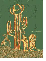 Detail of Antique Cowboy Card