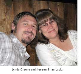 Lynda Greene and her son Brian Laslo