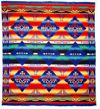 Example of an Indian Camp Blanket