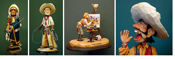 Collage of Lynn O. Doughty's Sculpted Pieces