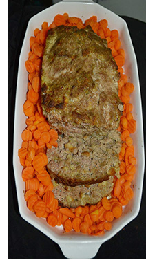 Delicious Turkey Meatloaf served with carrots