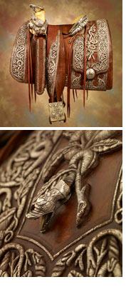Pancho Villa's Saddle and Detail Photo