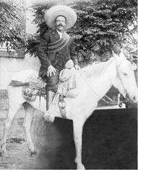 Photo of Pancho Villa on horseback