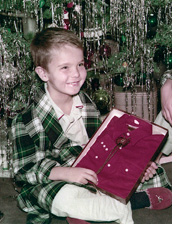 Photo of Bill Reynolds, Christmas 1957