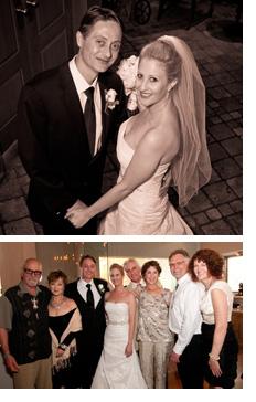 Wedding photos of Steve and Melanie