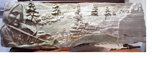 Photo of an alabaster sculpture by Chris Lilis