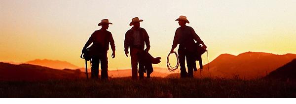 3 Cowboys agains sunset