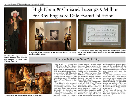 Antiques and the Arts Weekly article