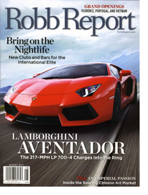August cover of Robb Report magazine