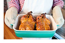 Delicious Roasted Pekin Ducks