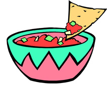 Illustration of bowl of salsa