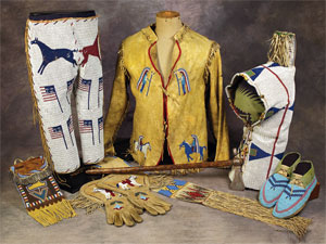 collage photo of native american auction items