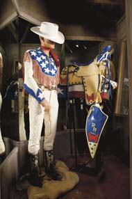 Red White and Blue clothes and saddle