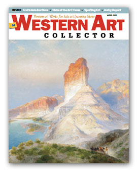 Western Art Collector Magazine cover April 2011